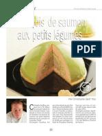 Bavarois de saumon aux petits légumes par www.charcutiers-traiteurs.com