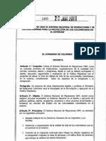 2011 LEY 1465 (Ley de Migración en Colombia)