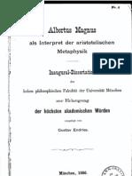 ENDRISS Albertus Magnus Als Interpreter Der Metaph