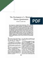 The Development of a Menstrual
