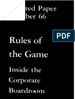 Rule of Game Inside Coorporate Bord Room