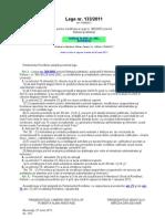 Legea 133 2011 Modif Statutul Politistului