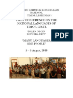 National Languages of Timor-Leste Conference 2010 - Report