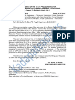 Cluster Resource Person Posts in Education Dept Notification 2011
