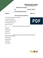 Model Question Paper MT0042 c