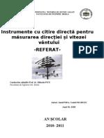 Măsurarea direcţiei şi vitezei văntului.doc modificat
