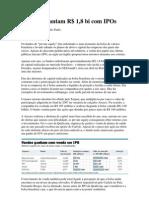 Fundos levantam R$ 1,8 bilhões com IPO