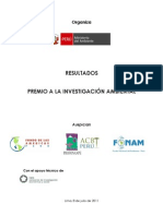 Premio Anual a la Investigación Ambiental-Resultados