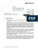 Motorola PTP 800 Series 03-10 System Release Note