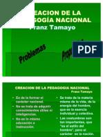 1 creacion de la pedagogía nacional