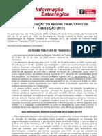 TRIBUTARIO 033 - 17 06 09 - REULAMENTAÇÃO DO RTT