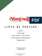Nominalia.com Pricelist