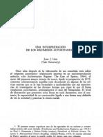 LINZ, Juan. Una interpretación de los regímenes autoritarios
