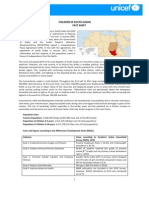 Fact Sheet - Children in South Sudan
