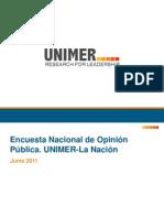 Encuesta nacional de opinión pública Unimer-La Nación Junio 2011