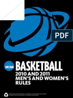 Ncaa Basketball 2010 & 2011 Men's & Women's Rules