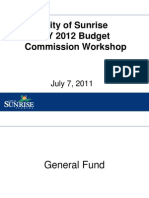 Commission July 7 FY 2012 Budget Workshop 7-1-11