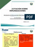 Capacitación sobre inmunización