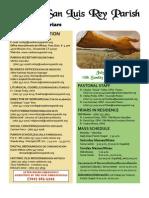 Bulletin for 7-10-2011