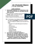 documentos para Utilidade Pública Estadual