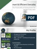 Smart & Effiecient Everyday - Jainism and Green