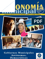 AUTONOMÍA MUNICIPAL EN BOLIVIA (2007) - Propuesta para la Asamblea Constituyente (Marzo2007)