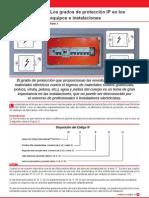Los grados de protección IP en los equipos e instalaciones II