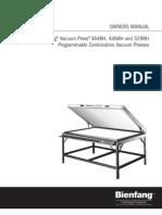 Seal Press Manual for Vacuum Presses