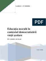 Educatia Morala in Contextul Democratizarii Vietii Scolare