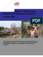 East Timor Rule of Law Evaluation 2009