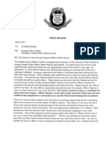 Seattle Police Guild Statement On Charges Files Against Officer Garth Haynes