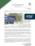 Ferrocarriles de Ecuador firmó contrato por 30 millones de dólares en España
