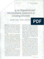 Applying an Organizational Development