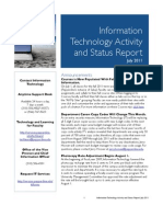 July 2011 IT Status Report