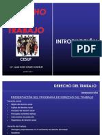 DERECHO DEL TRABAJO introducción LIC DER