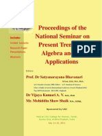 Proceedings of the National Seminar on Present Trends in Algebra and Its Applications