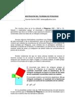 demostracción del teorema de pitagoras con papiroflexia