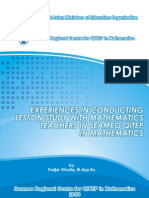 6. Experiences in Conducting Lesson Study With Mathematics Teachers in Seameo QITEP in Mathematics