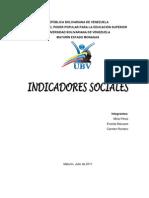 Indicadores Sociales (Trabajo Mirna)