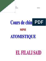COURS ATOMISTIQUE MPSI PDF