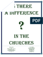 Is There a Difference in the Churches by G E Jones
