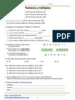 Matemáticas - Factores y múltiplos