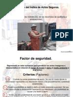 INDICE DE ACTOS SEGUROS E INSEGUROS /  RICARDO ESPINOSA RAMOS