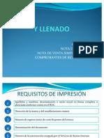 REQUISITOS DE IMPRESIÓN Y LLENADO