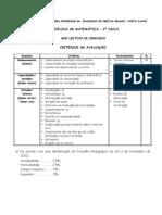 Critérios de avaliação 2009-2010