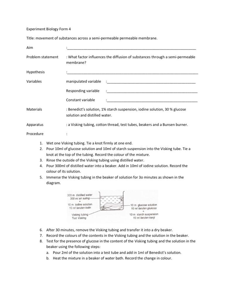 experiment biology form 4