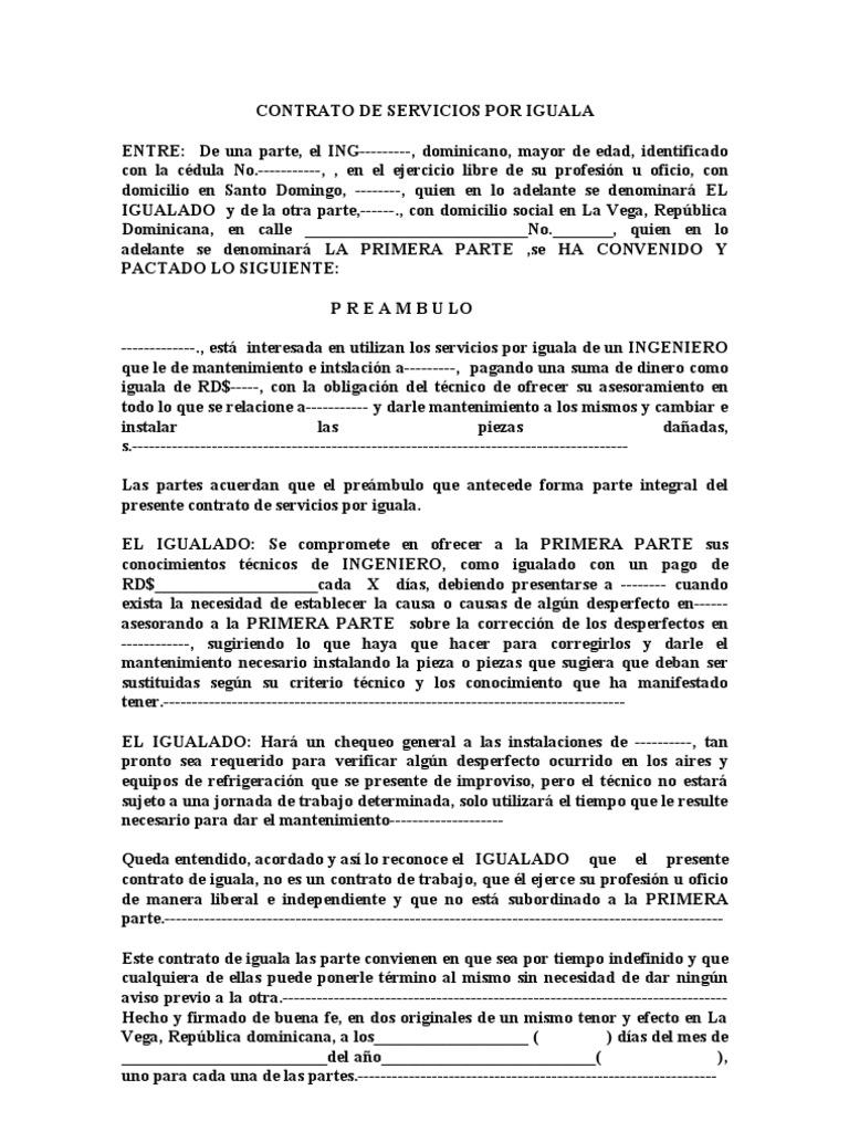 Famoso Plantilla De Contrato De Marketing Gratis Motivo - Colección ...