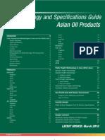 Asia Oil Product Specs