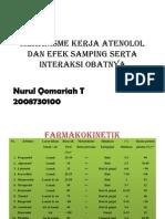 mekanisme kerja atenolol