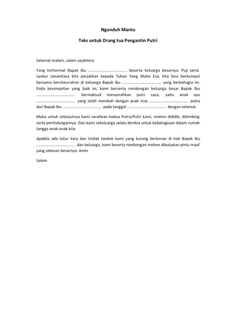 Contoh Teks Pembawa Acara Ngunduh Mantu Bahasa Jawa ...